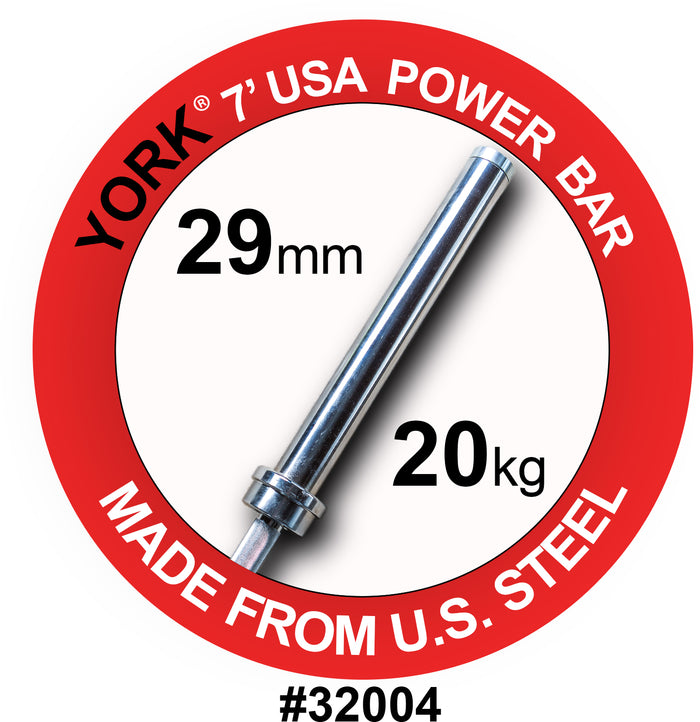 York Barbell | Men's Olympic Elite Power Bar - 29mm