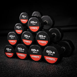 COREFX  | 12 Edge Rubber Dumbbell - XTC Fitness