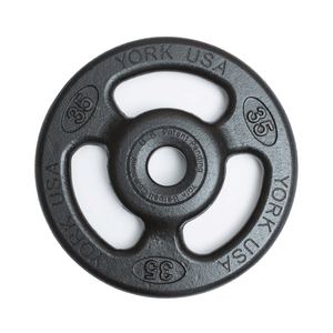 York Barbell | Olympic Plates - ISO-Grip Composite Steel - XTC Fitness