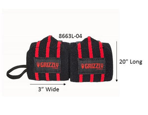 Grizzly Fitness | Heavy Duty Wrist Wraps - XTC Fitness - Toronto, Canada