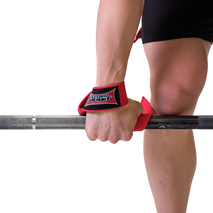 Sling Shot | Heavy-Duty Lifting Straps - Red (pair)