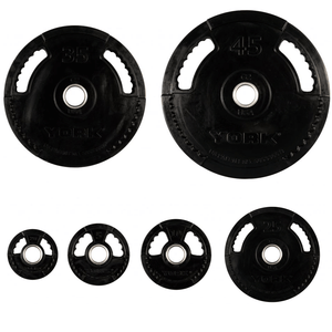 York Barbell | Olympic Plates - G2 Thin Line - Rubber Coated
