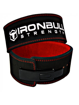 Iron Bull | Powerlifting Lever Belt - 13mm - Black/Red - XTC Fitness - Toronto, Canada