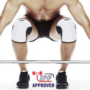 Rehband | RX Knee Sleeve - 105401 - 7mm - White - XTC Fitness - Toronto, Canada