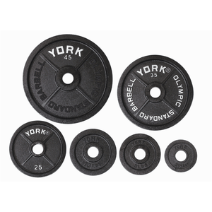 "York Barbell | Olympic Plates - ""Legacy"" Precision Milled"