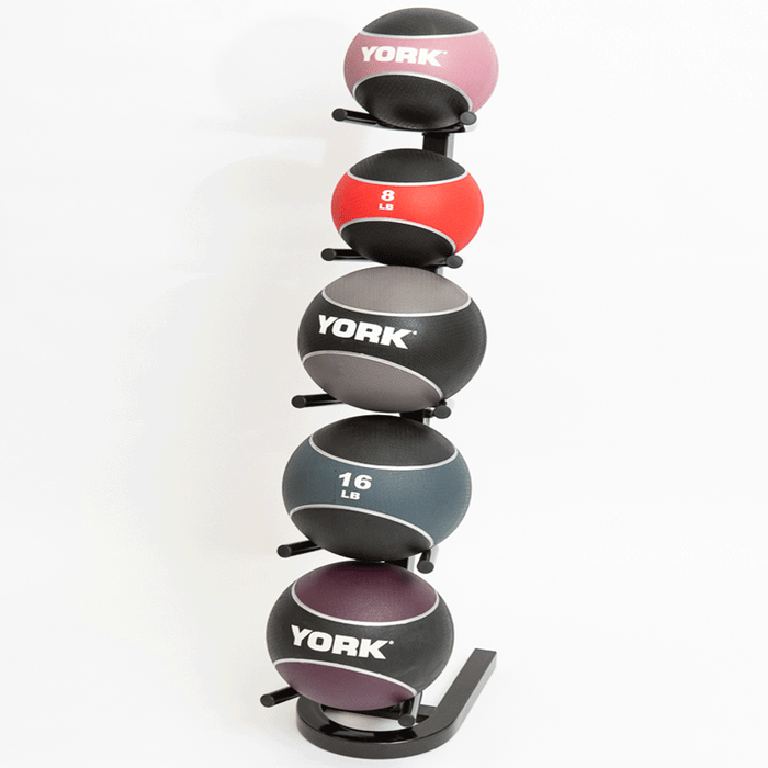 York Barbell | 5 Ball Vertical Medicine Ball Storage