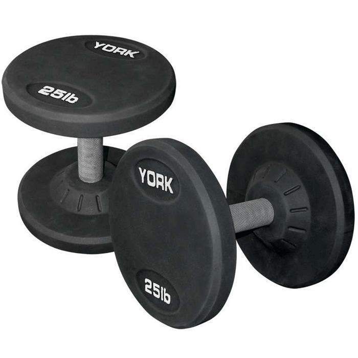 York Barbell | Dumbbells - Medial Grip Rubber Coated Pro Style