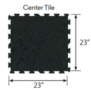 Ecore Athletic | Interlocking Tile - Basic Black - XTC Fitness - Toronto, Canada