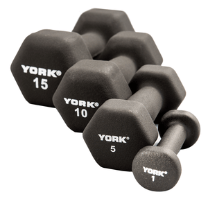 York Barbell | Dumbbells - Hex Neoprene - XTC Fitness