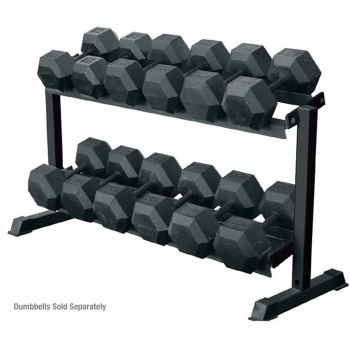 York Barbell | Pro Hex 2-Tier Dumbbell Rack