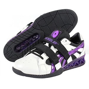 "Do-Win | Pendlay Weightlifting Shoes - 3/4"" - White/Purple - XTC Fitness - Toronto, Canada"