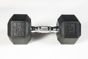 York Barbell | Dumbbell - Premium PVC Hex w/Chrome Ergo Handle - XTC Fitness - Toronto, Canada