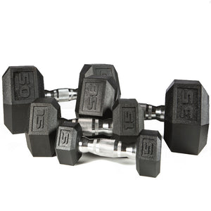 York Barbell | Dumbbell - Premium PVC Hex w/Chrome Ergo Handle - XTC Fitness