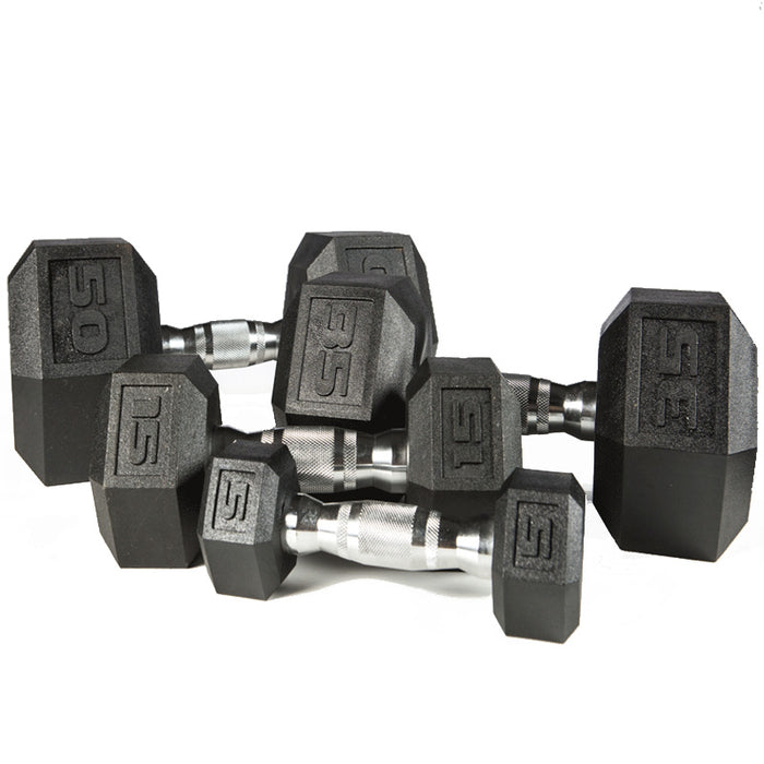 York Barbell | Dumbbell - Premium PVC Hex w/Chrome Ergo Handle