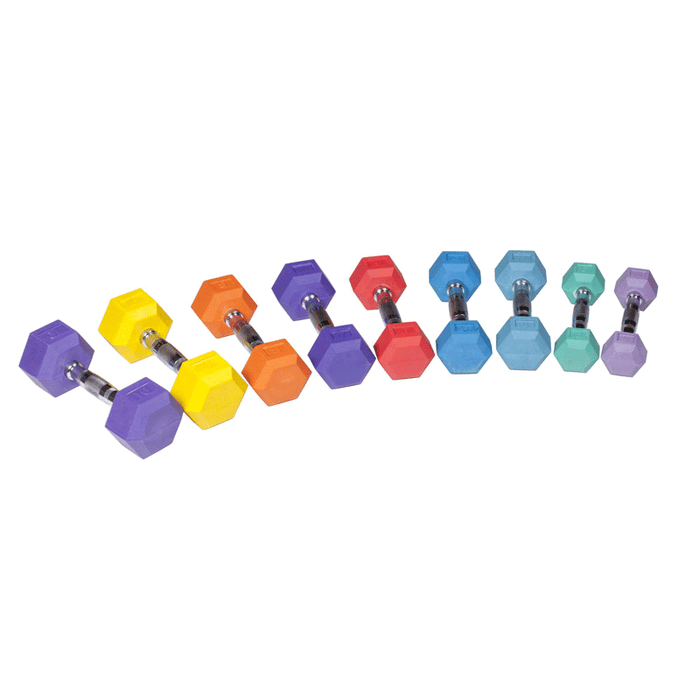 York Barbell | Dumbbells - Color Rubber Hex