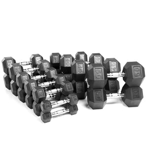 York Barbell | Dumbbells - Rubber Hex - XTC Fitness