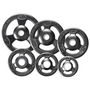 York Barbell | Olympic Plates - ISO-Grip Rubber Encased - XTC Fitness