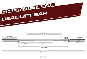 Buddy Capps | The Texas Deadlift Bar - Cerakote Edition - PRE-ORDER - XTC Fitness - Toronto, Canada