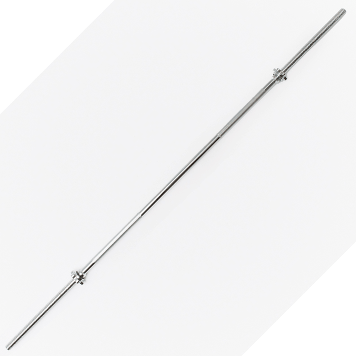 York Barbell | Spin Lock Solid Steel Bar w/ Collars - 6ft