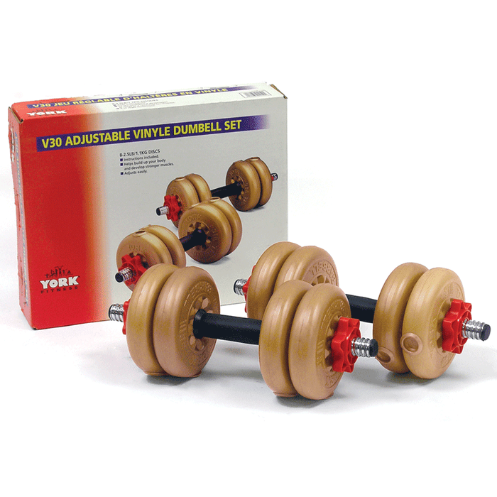 York Barbell | Dumbbells - V30 Spin Lock Vinyl (Set)