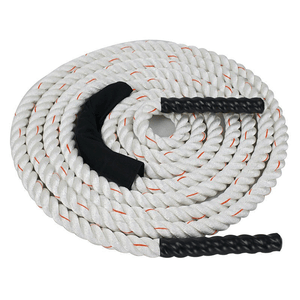 XTC Gear | Battle Rope - White w/Red Tracer - 1.5in Thick - XTC Fitness - Toronto, Canada