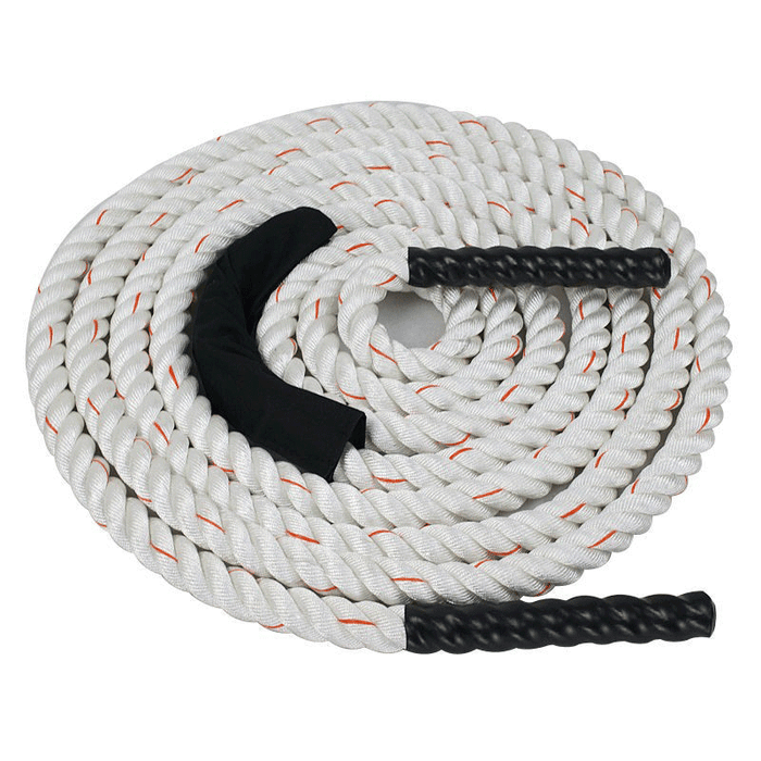 XTC Gear | Battle Rope - White w/Red Tracer - 1.5in Thick