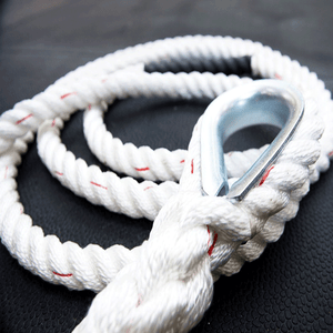XTC Gear | Climbing Rope - White w/Red Tracer - 1.5in Thick - XTC Fitness