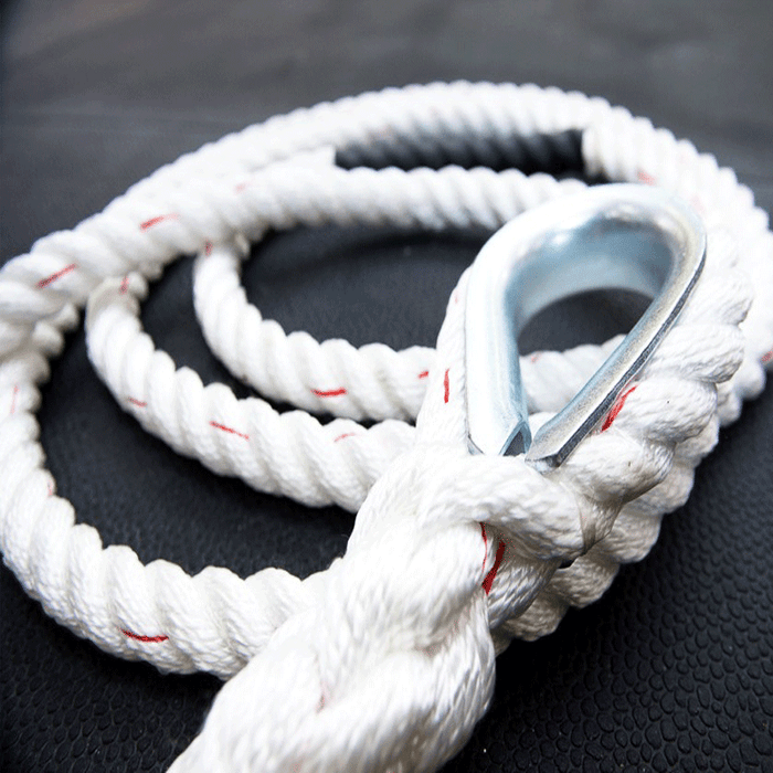 XTC Gear | Climbing Rope - White w/Red Tracer - 1.5in Thick