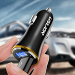 USLION Dual USB Car Charger 5V 2.4 Fast 2 Ports Fast Car Charger