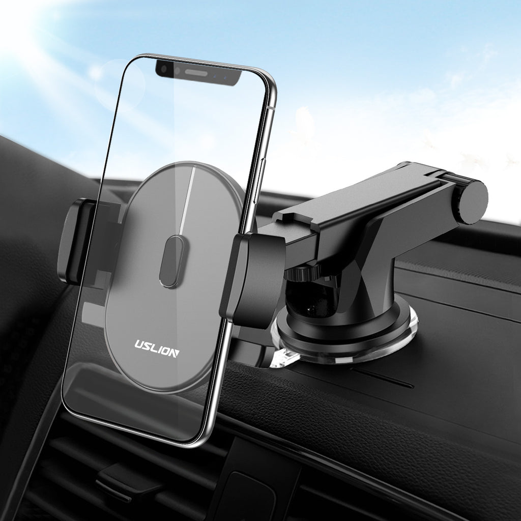 USLION Car Phone Holder For Samsung S9 S8 Plus Windshield Mount 360 Rotation Car Holder