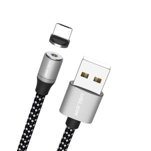 USLION LED Magnetic USB 3 in 1 Cable 1M 3.3ft 2M 6.6ft