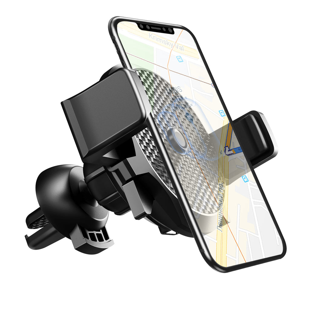 USLION Universal Car Phone Holder 2 in 1 Wireless Charger Car Air Vent Mount Clip