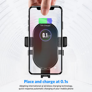 USLION Qi Car Wireless Charger For Fast Wireless Charging Mount Car Phone Holder