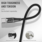 USLION 3A Magnetic Fast USB Charging Cable Magnet Micro USB Type C Data Cable