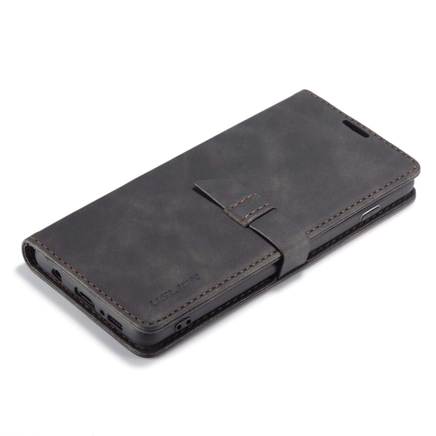 USLION Genuine Leather Wallet Card Case For Samsung