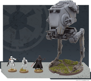 Star Wars Legion AT-ST Expansion size comparison