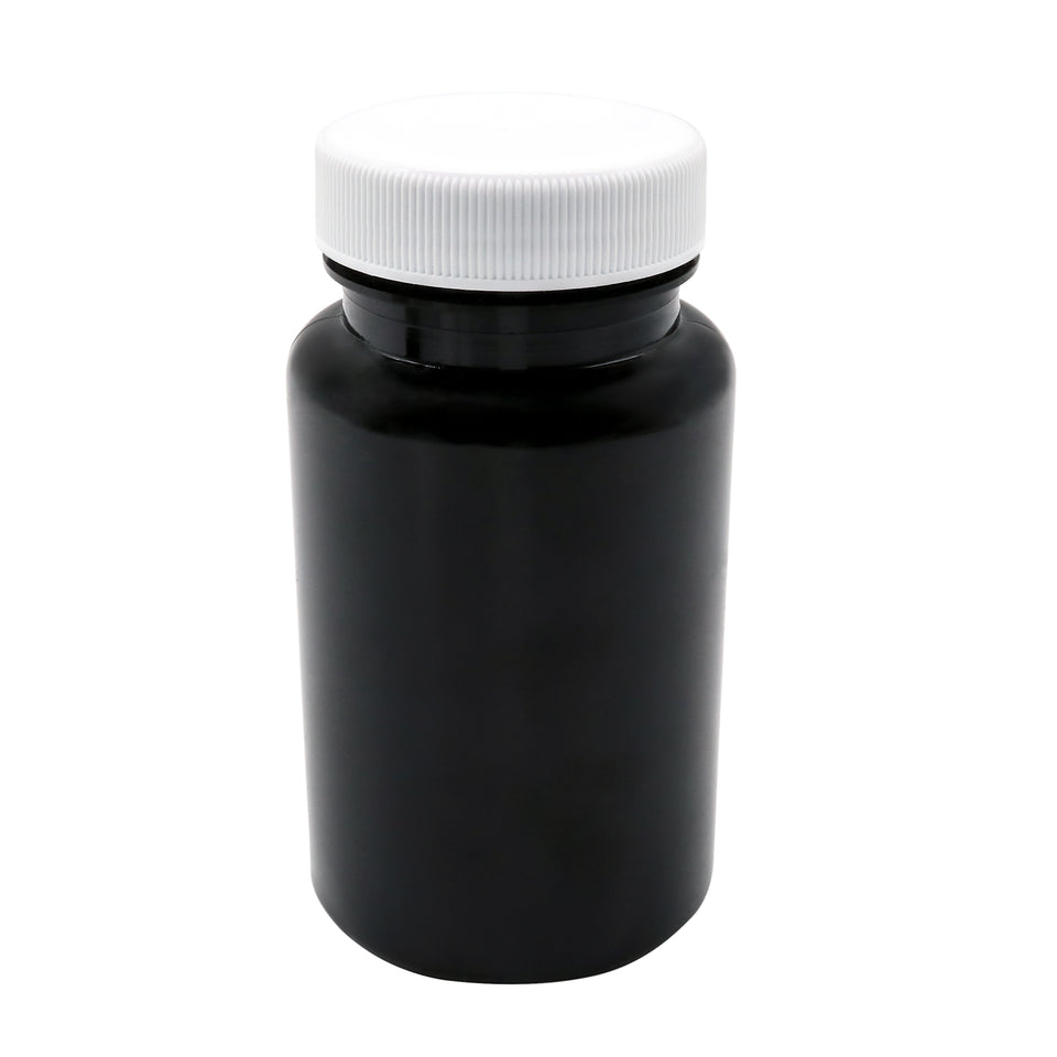 100ml Plastic Pill Containers - Strong brown pots and Lids