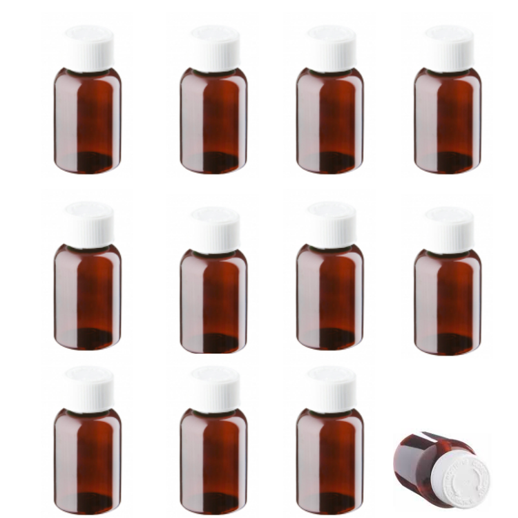 Medicine pill pots & lids, PET Pill Bottles, 25ml, 50ml, 100ml, 150ml, 200ml