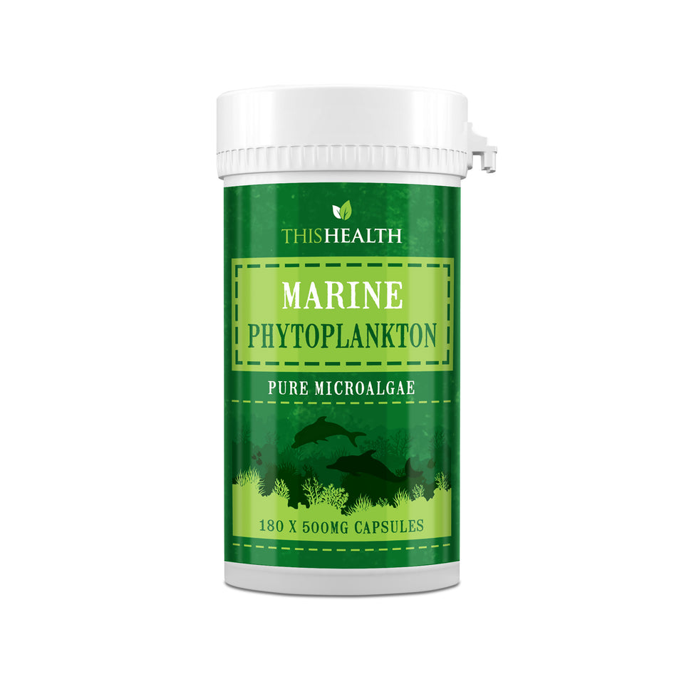Marine Phytoplankton Capsules x 180 Micro-alga Superfood-This Health