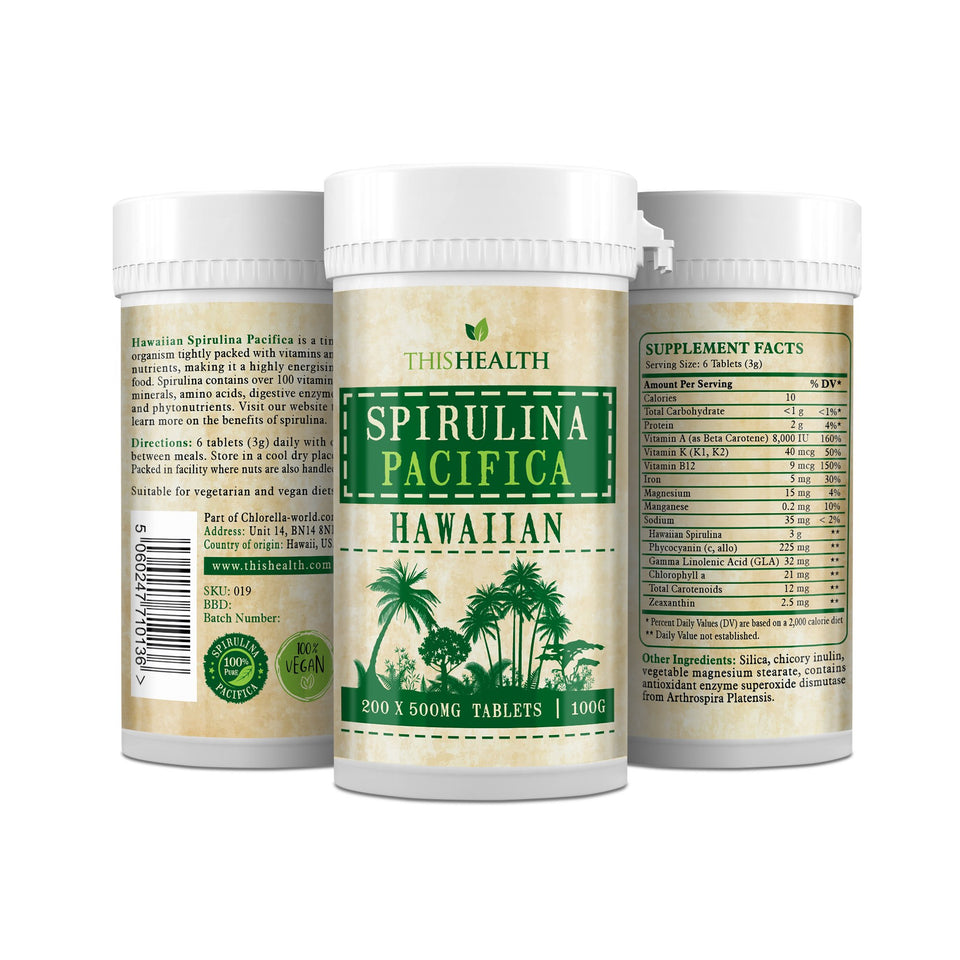 Hawaiian Spirulina Pacifica Comprimés-This Health
