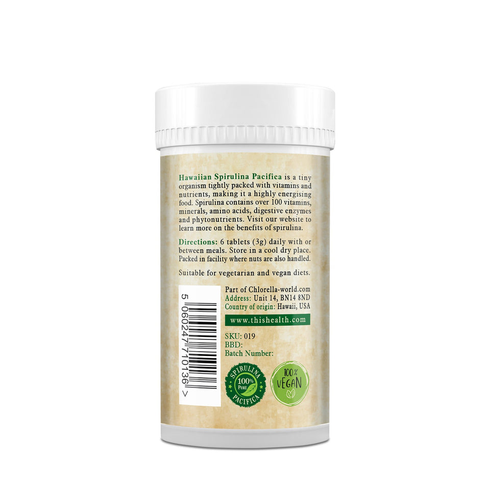 Hawaiian Spirulina Pacifica Tablets - This Health