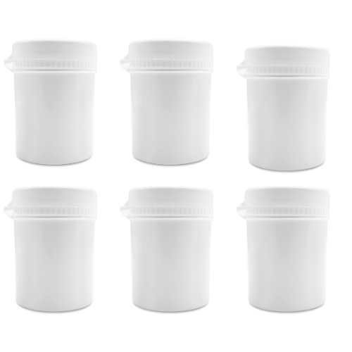 100ml Plastic Round Pill Container, Bottles Jars - Snap Secure pots and Lids