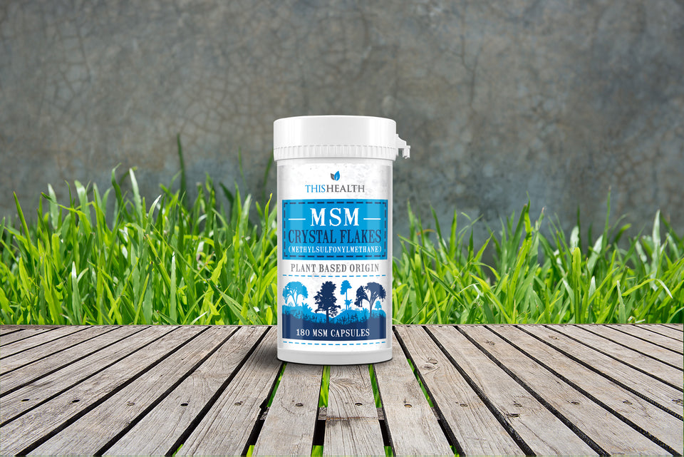 MSM Capsules - Canadian Crystal Flakes - This Health