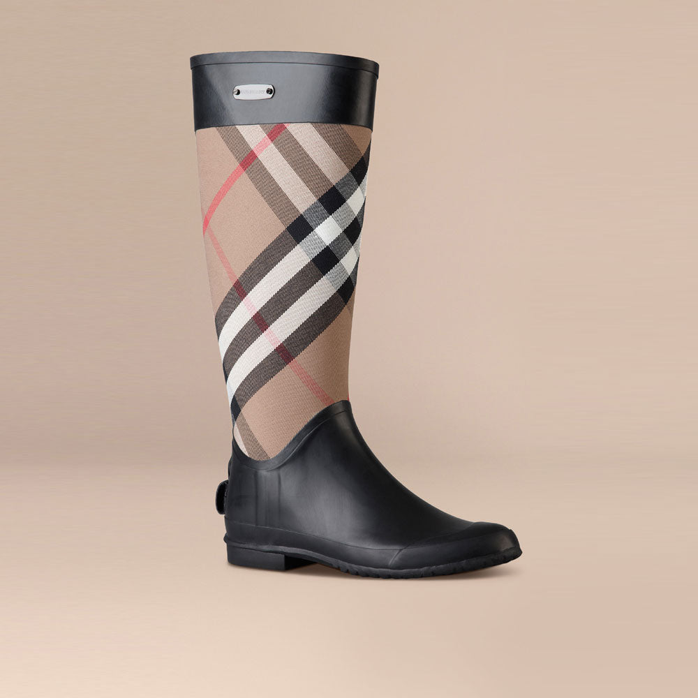 Burberry Check Panel Rain Boots House