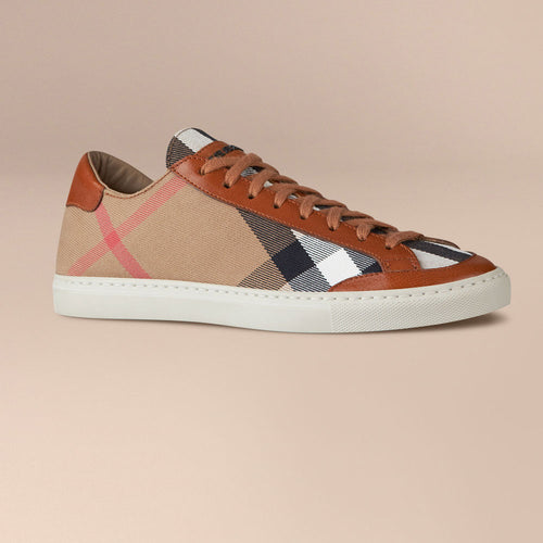 Burberry House Check Canvas Trainers