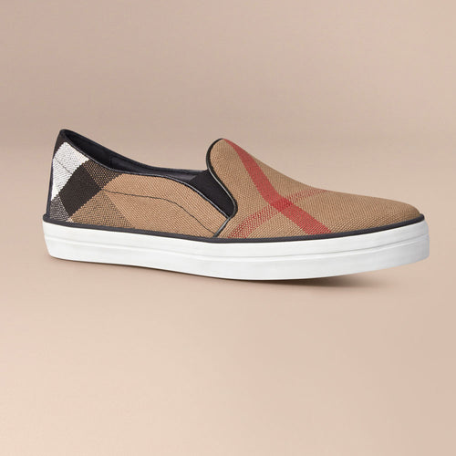 Burberry Check Slip-On Trainers