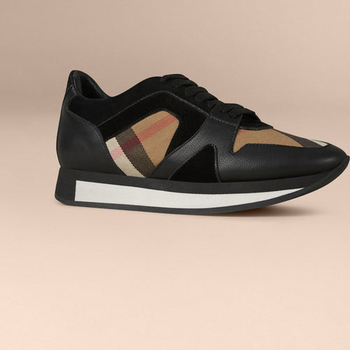 Burberry Field Sneaker in House Check and Leather