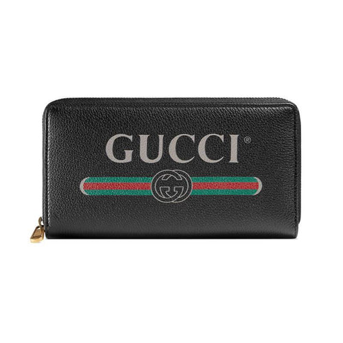 Gucci Logo Leather Zip Around Wallet 4 colors