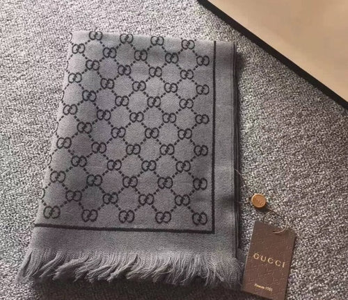 Gucci Classic Two-Tone Silk/Cashmere Scarf 3 colors