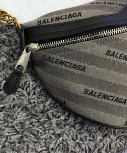 BALENCIAGA Souvenir XS Belt Bag Gray